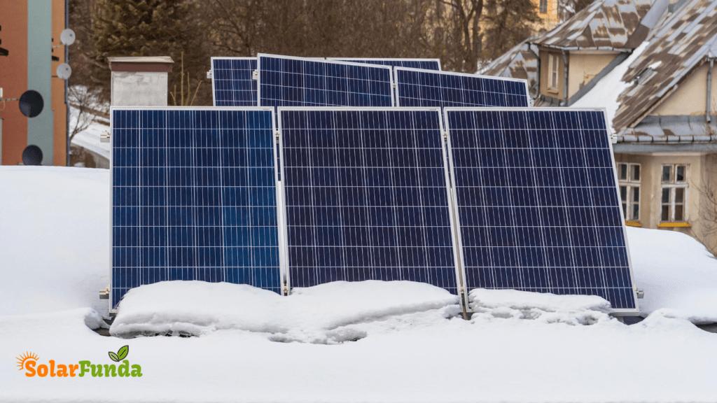 Effect of Snowfall on Solar Panels