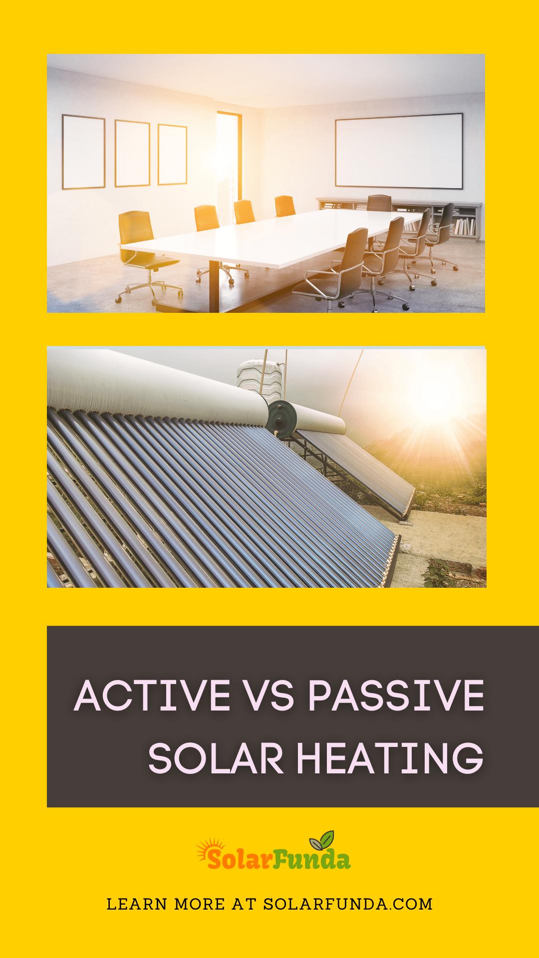 Active vs Passive Solar Heating