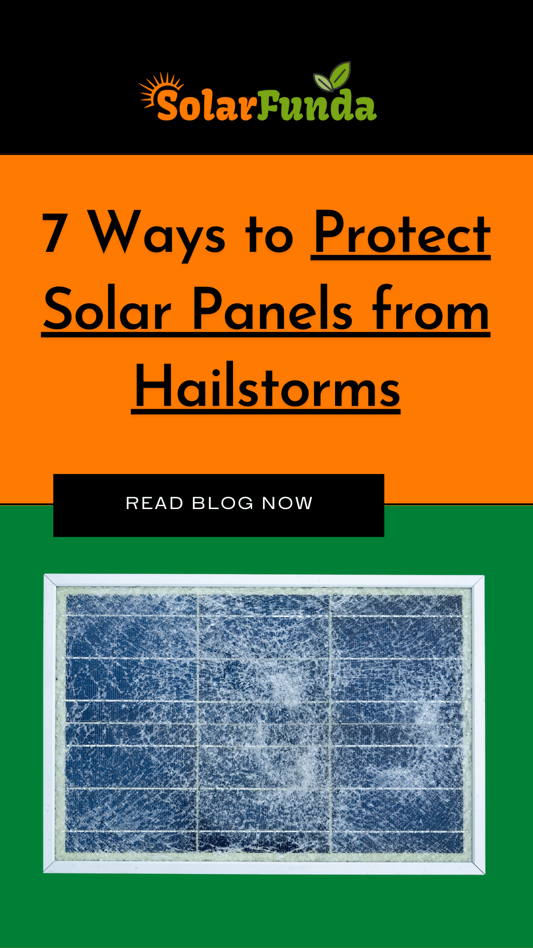 Ways to protect solar panels from Hailstones